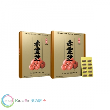 Mikei Red Reishi Essence 2-Box with 1 FREE box of Vitahouse Mushroom Chips